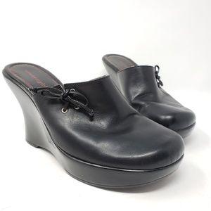 Tommy Girl black platform mules size 9.5